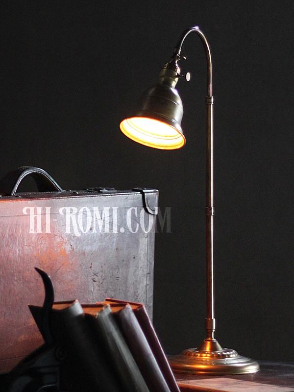 USAヴィンテージ角度調整付ファーマシー真鍮製テーブルライト/工業系アトリエ照明 アンティーク照明&雑貨 Hi-Romi.com 神戸