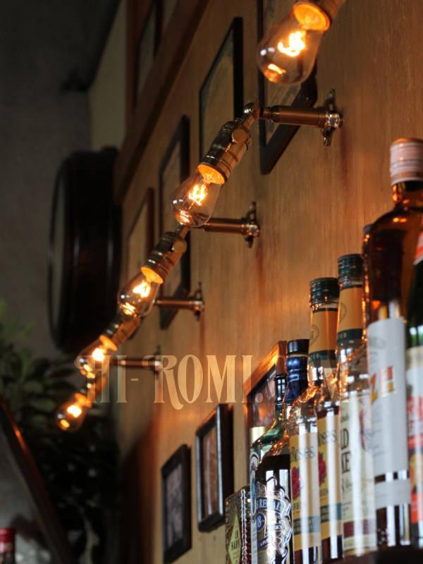 U.S.A. LEVITON社製真鍮ソケット&角度調整付きミニブラケットA/インダストリアル壁掛照明ウォールランプ