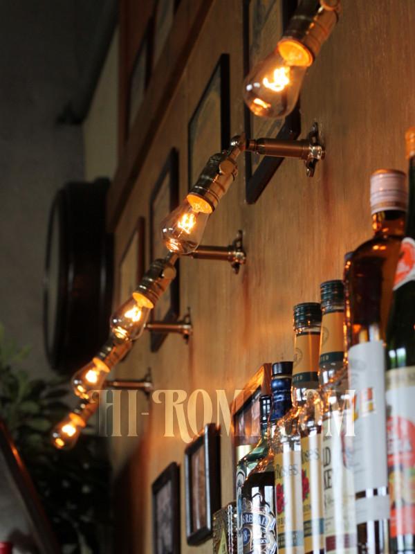 LEVITON社製真鍮ソケット&角度調整付きバレット型ミニブラケットC/アメリカンインダストリアル壁掛照明ウォールランプ