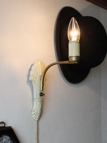 USAヴィンテージシェル型土台1灯ウォールランプ