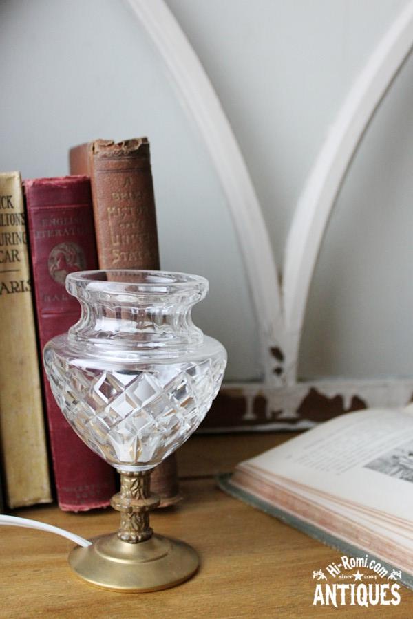 USAヴィンテージガラスシェードカップテーブルランプA/アンティークゴブレット卓上ライト