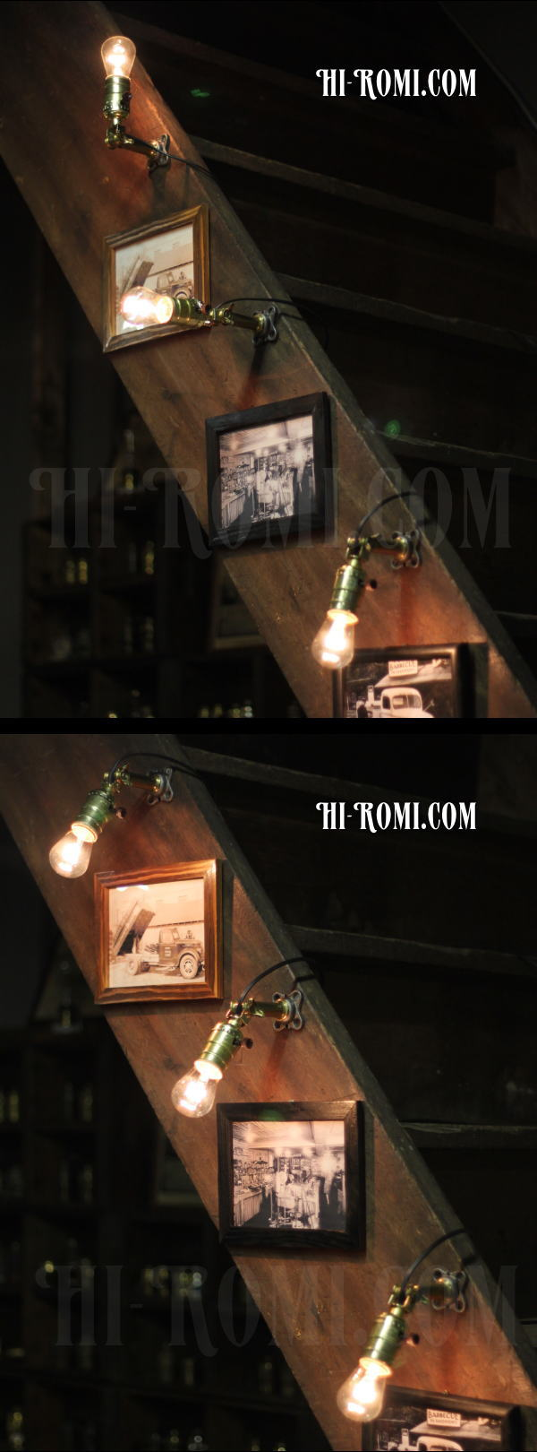 USAヴィンテージ工業系角度調整付壁掛ライトA/アンティークアトリエ照明 アンティーク照明&雑貨 Hi-Romi.com 神戸