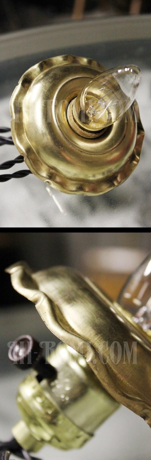 USAサークルFヴィンテージターン式アルミ製ソケット花フレーム付ペンダントライト(1)/アンティーク照明ランプ工業系