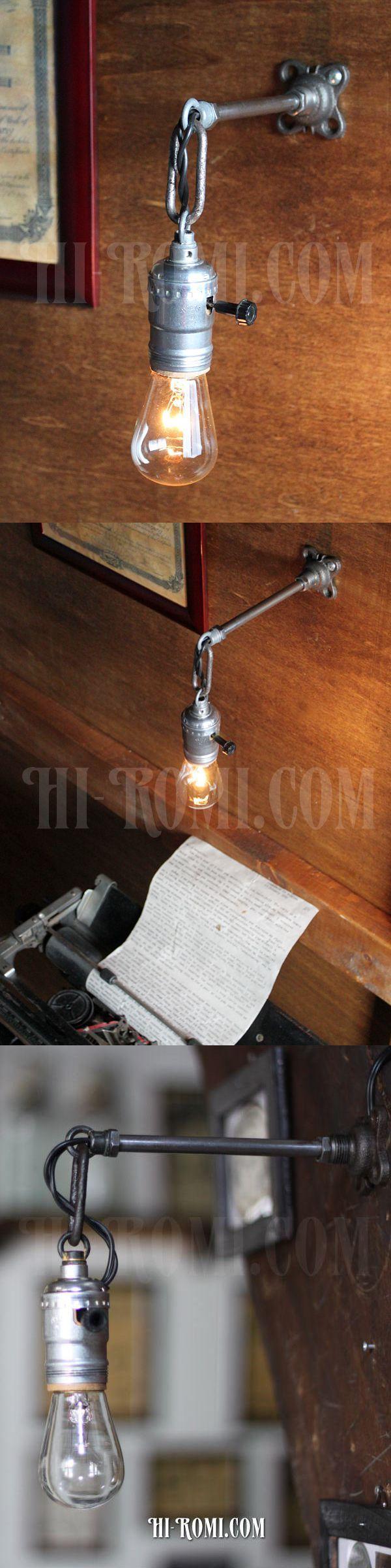 ヴィンテージ工業系ウォールランプ兼用ペンダントライト/アンティーク照明ブラケット