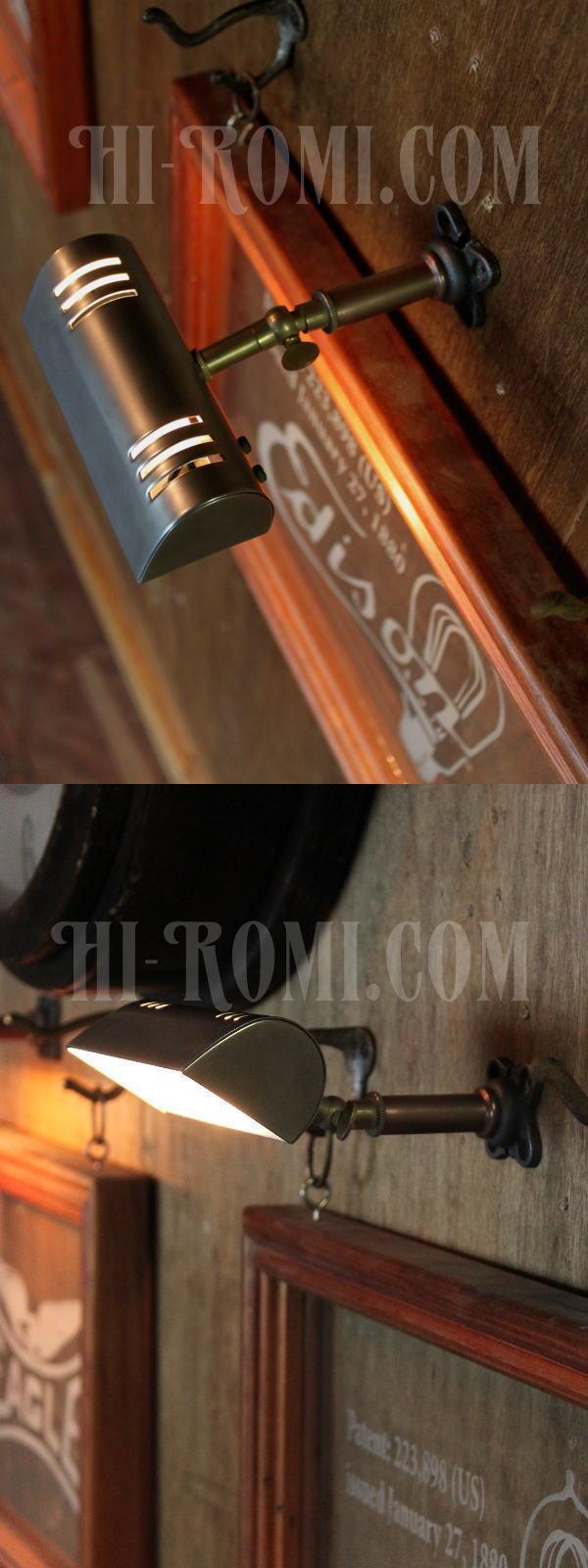 ヴィンテージ角度調整付ミニウォールブラケット・壁掛ピクチャーライト/アンティーク工業系照明
