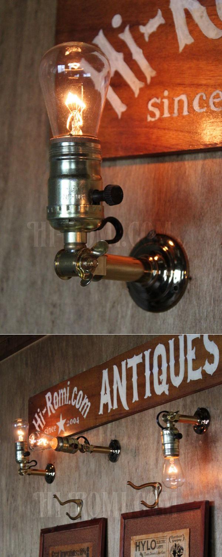 USAヴィンテージサークルF社製アルミソケット&角度調整付ミニブラケットA/アンティーク工業系照明壁掛ランプ