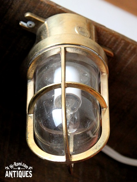 アメリカンヴィンテージ 真鍮 マリンランプ 船舶 /工業系 ブロカント ジャンク アンティーク